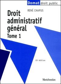 Deedr.fr Droit administratif général. Tome 1, 15ème édition Image
