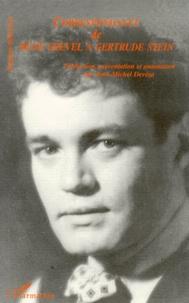 René Crevel et Jean-Michel Devésa - Correspondance de René Crevel à Gertrude Stein - [1926-1935.