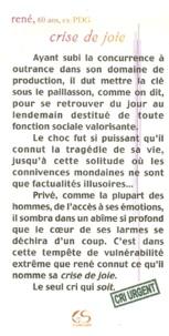 René - Crise de joie.
