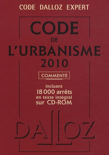 René Cristini - Code de l'urbanisme 2010 commenté. 1 Cédérom