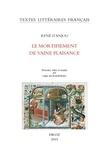 René d' Anjou - Le mortifiement de vaine plaisance.