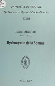 René Debrie - Hydronymie de la Somme.