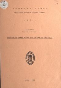 René Debrie et  Centre d'études picardes - Répertoire de surnoms picards, dans la Somme, au XIXe siècle.