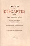 René Descartes - Oeuvres de Descartes - Volume 10, Physico-mathematica ; Compendium musicae ; Regulae ad directionem ingenii ; Recherche de la vérité ; Supplément à la correspondance.