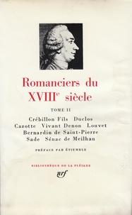 René Etiemble - Romanciers du XVIIIe siècle - Tome 2.