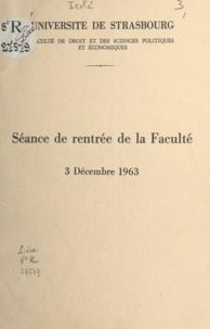 René Fruit et Roland Ganghoffer - Séance de rentrée de la Faculté, 3 décembre 1963.