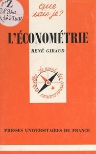 René Giraud et Paul Angoulvent - L'économétrie.