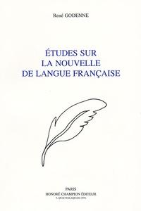 René Godenne - Etudes sur la nouvelle de langue française.