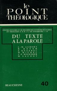 René Heyer - Du texte à la parole.
