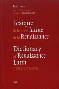 René Hoven - Lexique de la prose latine de la Renaissance.