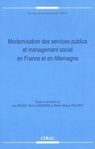 René Lasserre et Marie-Hélène Pautrat - Modernisation des services publics et management social en France et en Allemagne.