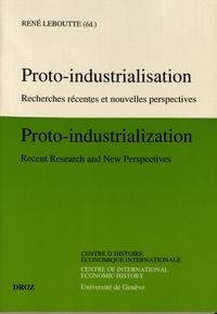 René Leboutte - Proto-industrialisation - Recherches récentes et nouvelles perspectives.