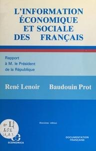 René Lenoir et Baudouin Prot - L'information économique et sociale des Français.