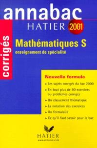 René Merckhoffer et Richard Bréhéret - Mathématiques Bac S. - Enseignement de spécialité, Sujets corrigés 2001.