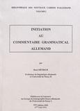 René Métrich - Initiation au commentaire grammatical allemand.