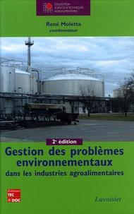 René Moletta - Gestion des problèmes environnementaux dans les industries agroalimentaires.