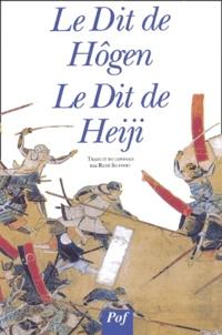 René Sieffert - Le Dit de Hôgen, Le Dit de Heiji.