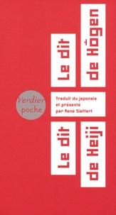 René Sieffert - Le dit de Hôgen, le dit de Heiji - Cycle épique médiéval des Taïra et des Minamoto.