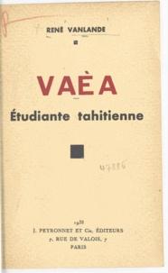 René Vanlande - Vaèa - Étudiante tahitienne.