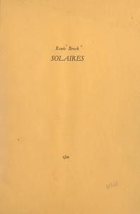 Renée Brock - Solaires.