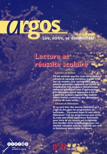 Jean-Yves Langanay - Argos N° 43, Mai 2008 : Lecture et réussite scolaire.