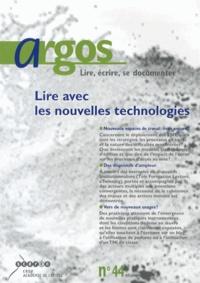 François Villemonteix - Argos N° 44, Décembre 2008 : Lire avec les nouvelles technologies.
