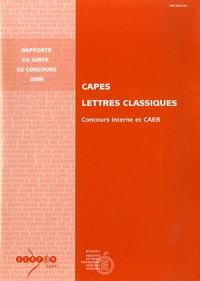 Pascal Charvet - CAPES Lettres classiques - Concours interne et CAER.