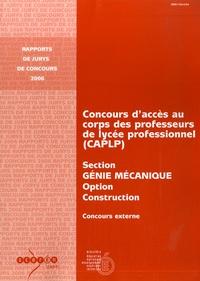 Cahuzac - CAPLP externe, Génie Mécanique - option construction, 2006.