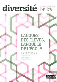 Régis Guyon - Diversité N° 176, 2e trimestre : Langues des élèves, langue(s) de l'école.