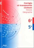 Chantal Alvarez et Marie-Noëlle Bert - Histoire-Géographie 6e-5e - Corrigés et transparent couleurs.