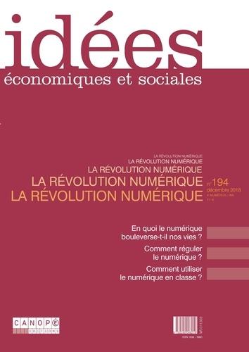 Canopé - Idées économiques et sociales N° 194, décembre 201 : .