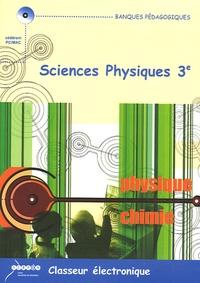 Didier Boni et Alain Carrier - Sciences physiques 3e, Classeur électronique - CD-ROM Licence établissement.
