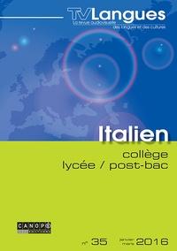 Claudine Maggina - TVLangues N° 35, janvier 2016 : Italien collège / lycée / post-bac. 1 DVD
