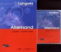 Académie de Dijon - TVLangues N° 38, janvier-mars  : Allemand lycée, post-bac. 1 DVD