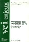 Bernard Bier - Ville-Ecole-Intégration Enjeux N° 128, Mars 2002 : Rapports de sexe, rapports de genre - Entre domination et émancipation.