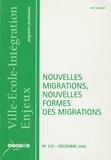 Bernard Bier - Ville-Ecole-Intégration Enjeux N° 131, Décembre 200 : Nouvelles migrations, nouvelles formes des migrations.