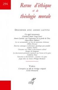 Retm Collectif - Revue d'Ethique et de Théologie Morale numéro 294.