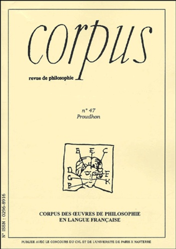 Hervé Touboul - Corpus N° 47 : Proudhon.
