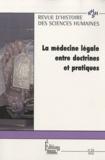 Michel Porret et Alessandro Pastore - Revue d'histoire des sciences humaines N° 22, 2010 : La médecine légale entre doctrine et pratique.
