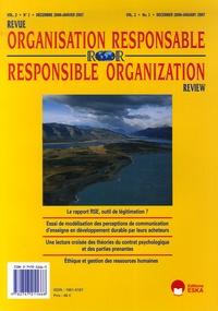 Jacques Igalens et Nathalie Garric - Revue de l'Organisation Responsable Volume 2 N° 1, décem : .