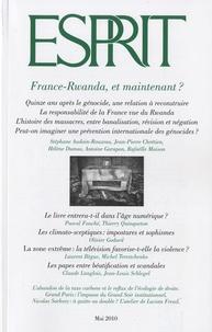 Pascal Fouché et Thierry Quinqueton - Esprit N° 364, Mai 2010 : France-Rwanda, et maintenant ?.