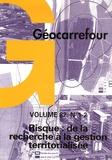 Jacques Donzé - Géocarrefour Volume 82 N° 1-2/200 : Risque : de la recherche à la gestion territorialisée.