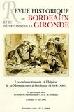 J-L Pettes - Revue Historique de Bordeaux N° 5, 2004 Troisième : Les enfants trouvés et l'hôpital de la Manufacture à Bordeaux (1689-1880)..