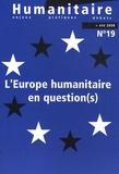 Pierre Salignon - Humanitaire N° 19, Eté 2008 : L'Europe humanitaire en question(s).