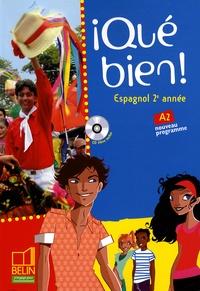 Reynald Montaigu et Elisabeth Mazoyer - Espagnol 2e année Qué bien!. 1 CD audio