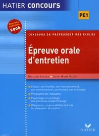 Richard Assuied et Anne-Marie Ragot - Epreuve orale d'entretien.