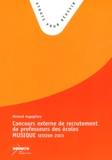Richard Augugliaro - Concours externe de recrutement de professeur des écoles : Epreuve de musique - Session 2003.