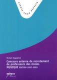 Richard Augugliaro - Concours externe de recrutement de professeurs des écoles - Epreuve de musique, Edition 2002-2003.