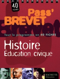Ucareoutplacement.be Histoire, Education civique. 40 fiches Image