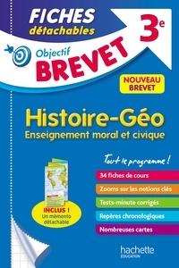 Histoire-géo enseignement moral et civique 3e- Fiches détachables - Richard Basnier |
